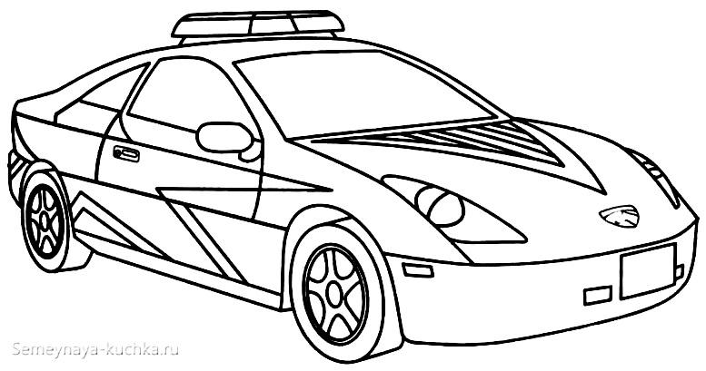 раскраска картинка чб авто