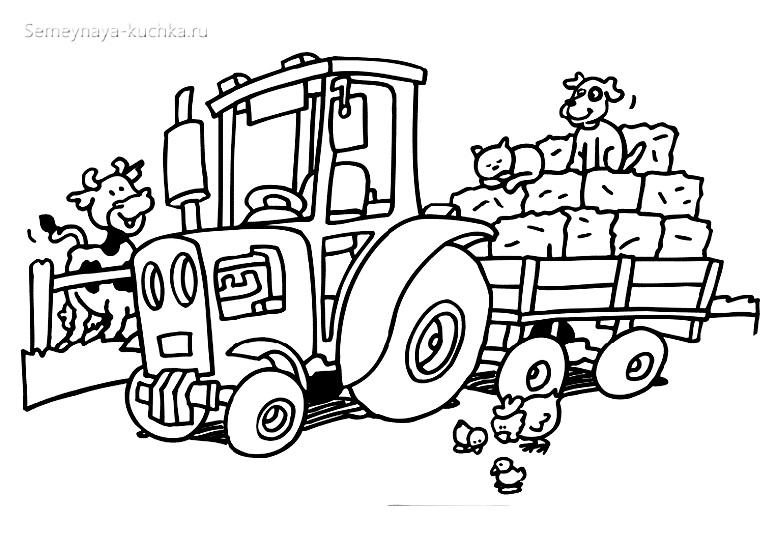 трактор раскраски для мальчиков
