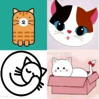 шаблон кошка кот для аппликаций