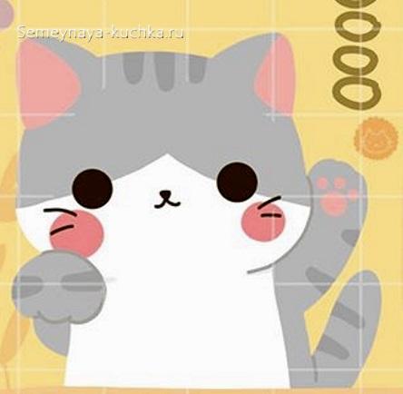 шаблон кошечка котенок для аппликации