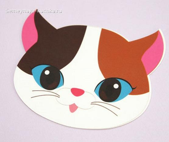 шаблон кошка голова для детей