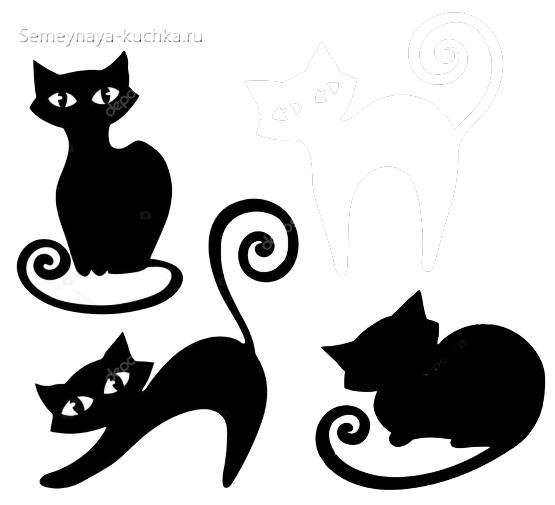 3 шаблона кошка с глазами для детей