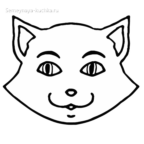 шаблон голова кота для детей