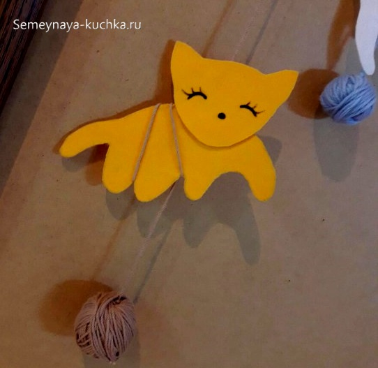 шаблон для аппликации рыжая кошка