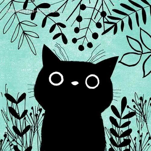 шаблон котенок кошечка в детском саду для аппликации