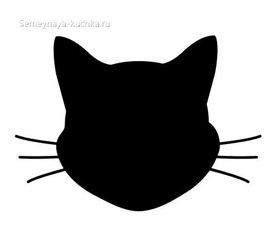 шаблон для аппликации голова кошки морда