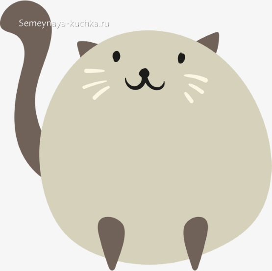 шаблон толстый кот для детского сада аппликация