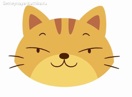 аппликация хитрая кошка для детского сада