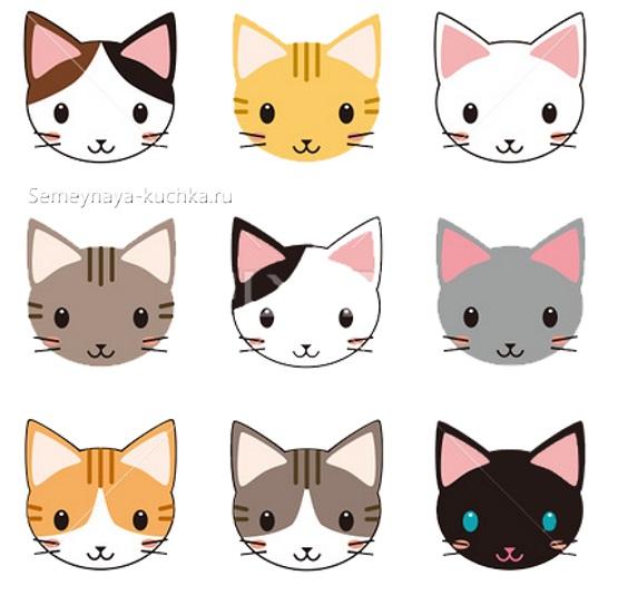 шаблон котята для детей