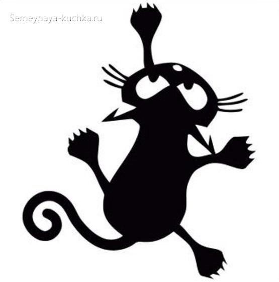 шаблон черный кот аппликация