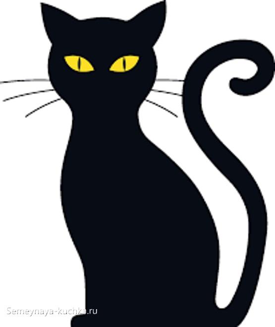 силуэт шаблон кошки которая сидит