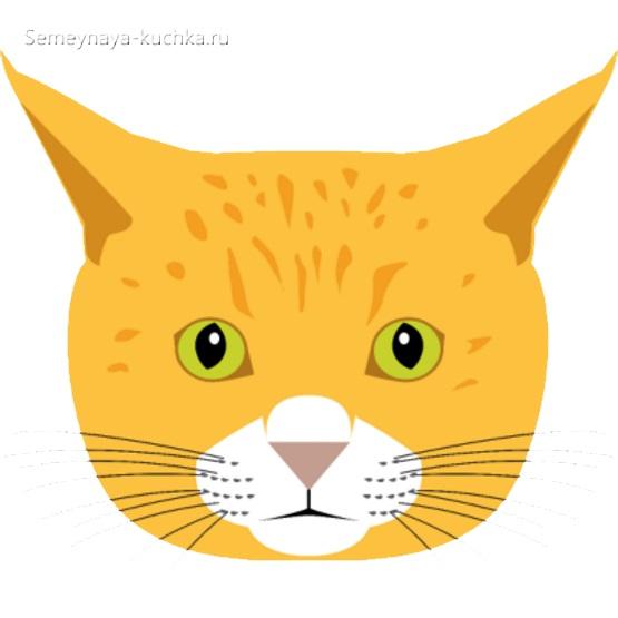 шаблон для аппликации морда кошки