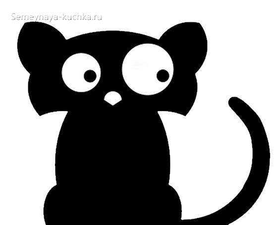 черный силуэт кошки