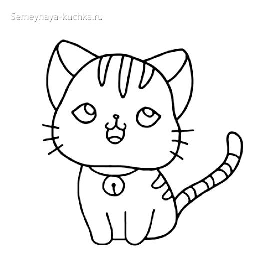 шаблон котенок для аппикации в детском саду