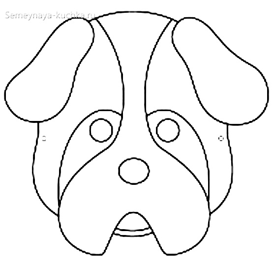 шаблон собака для аппликации