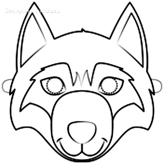 шаблон волк для аппликации