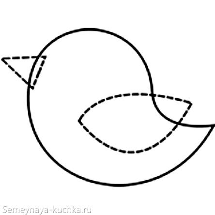 шаблон птичка для аппликации