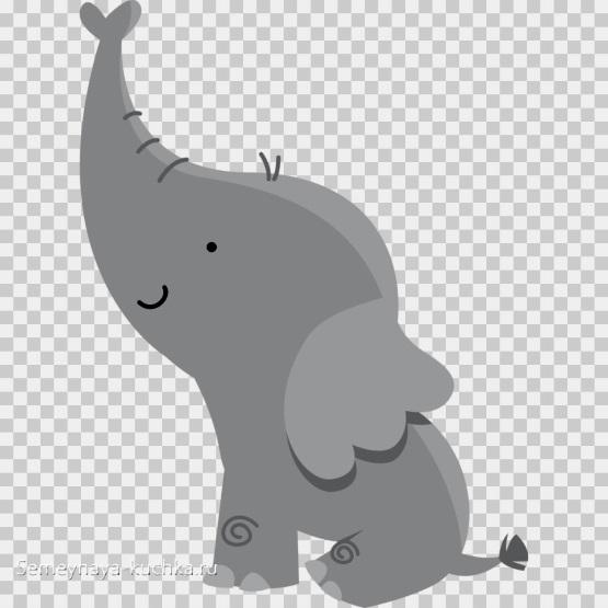 шаблон аппликация слоник в детском саду