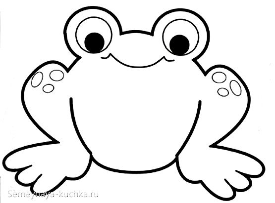 шаблон для аппликация лягушка
