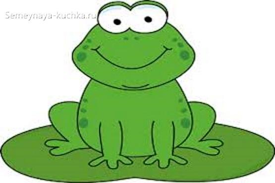 аппликация в детском саду шаблон лягушка