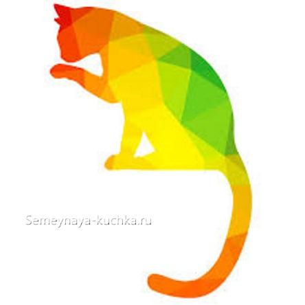 коллаж аппликация кошка для детского сада