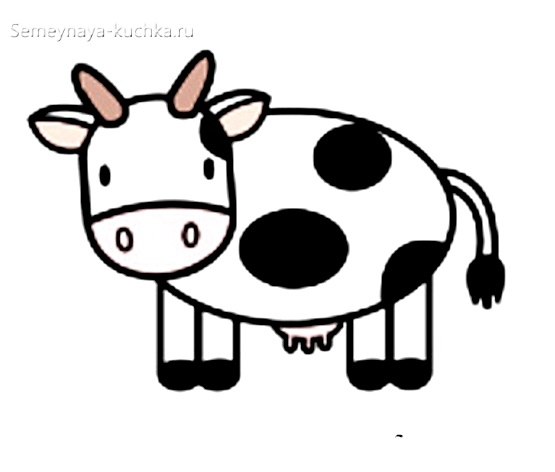 шаблон корова в детском саду