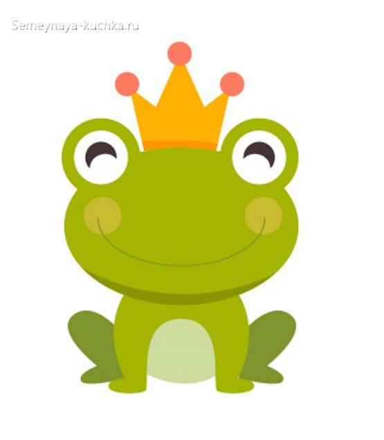 аппликация лягушка шаблон для детей