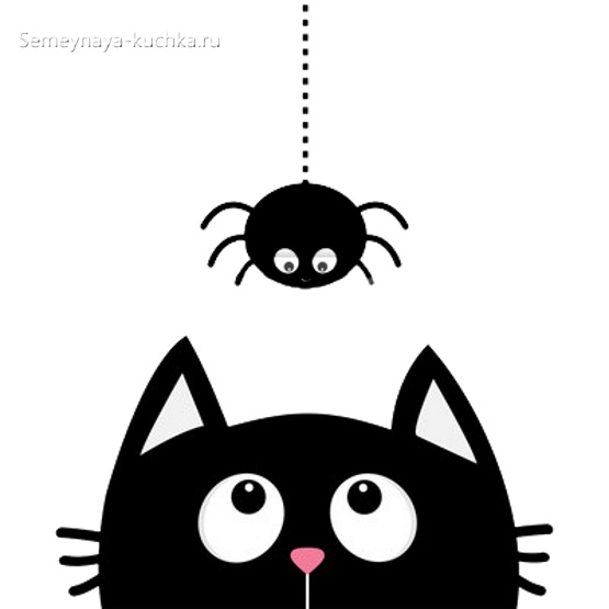 аппликация котик шаблон