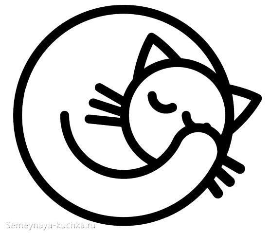 шаблон аппликация кошка