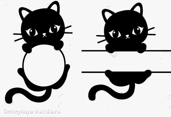 шаблон аппликации котик