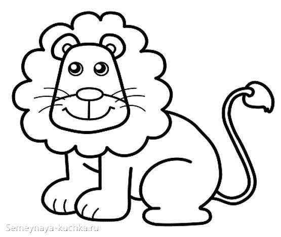 шаблон аппликации лев царь зверей