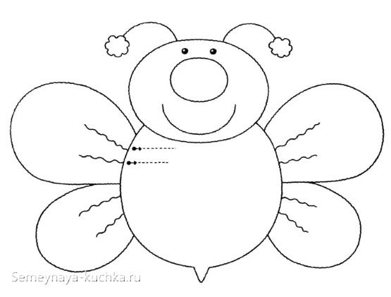 аппликация пчела шаблон для детей