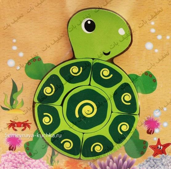 поделка черепаха шаблон для детей