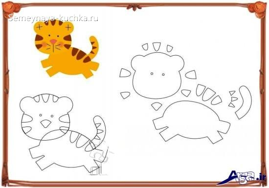 шаблон аппликации тигренок средняя группа детский сад