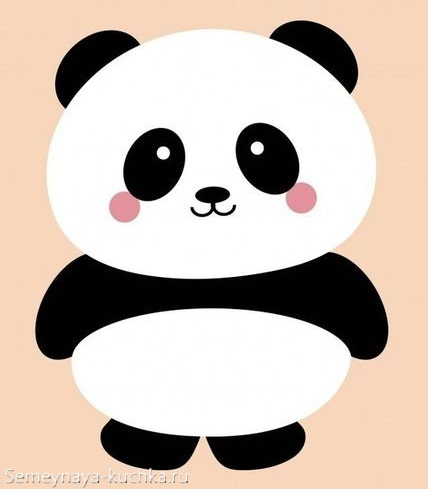 аппликация панда шаблон для детей