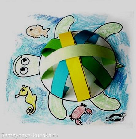 аппликация черепаха шаблон для детей