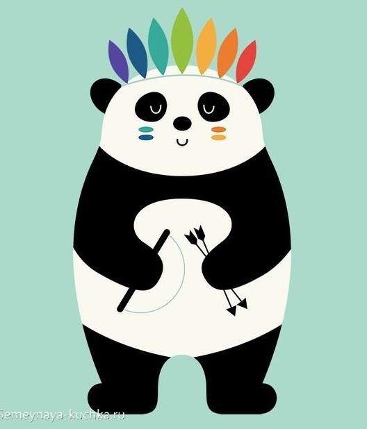 аппликация панда