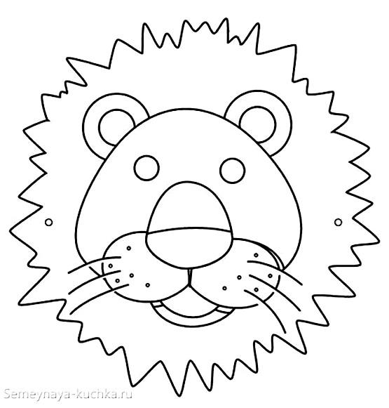 аппликация лев