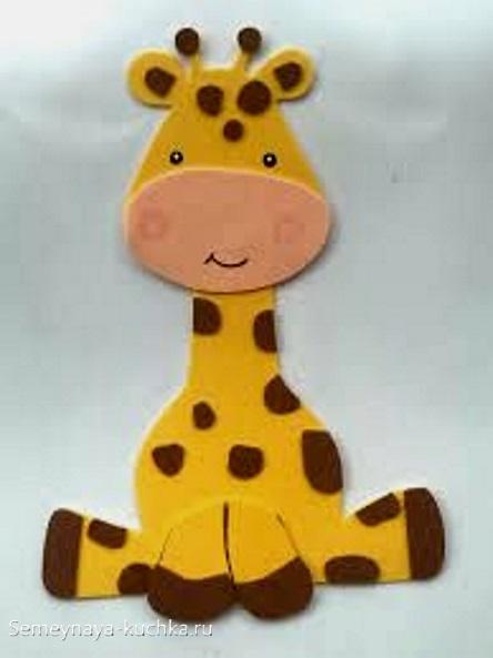 аппликация жираф шаблон для детей