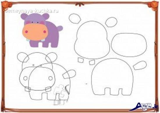 шаблон аппликация бегемот детский сад