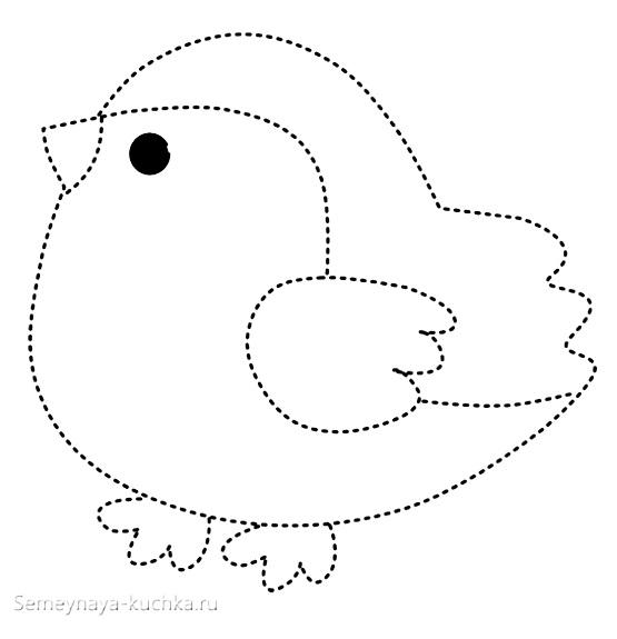 шаблон снегирь птичка для аппликации