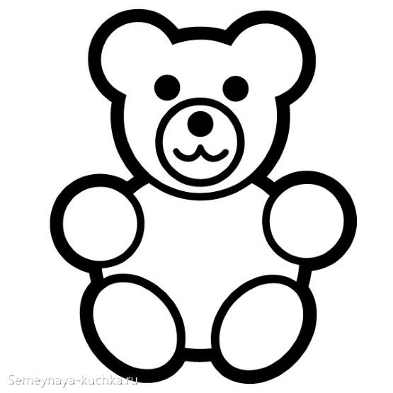 шаблон медведь мишка для аппликации