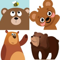 аппликация медведь и мишка