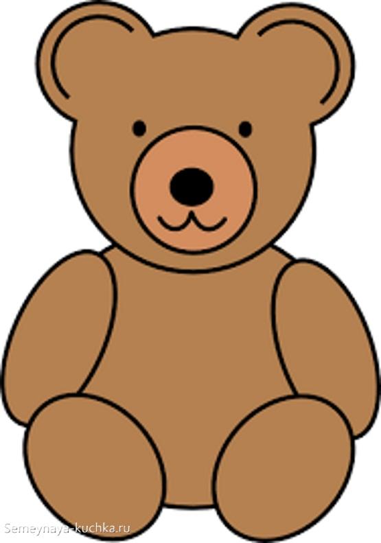 аппликация медведь игрушка