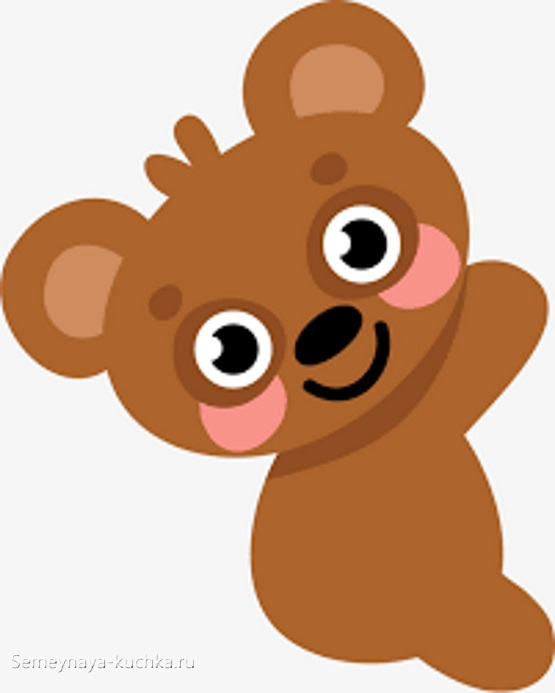 аппликация мишка медвежонок лезет на дерево