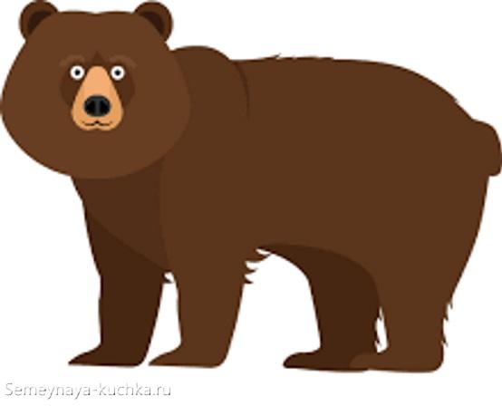 аппликация медведь лесной для старшей группы