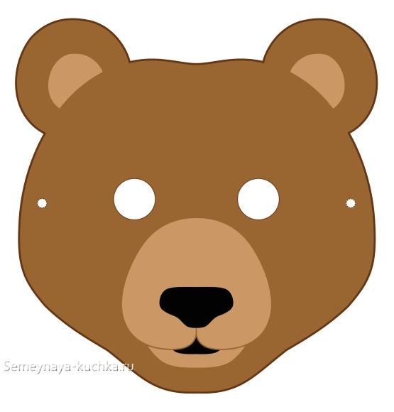 аппликация маска медведь для средней группы детского сада