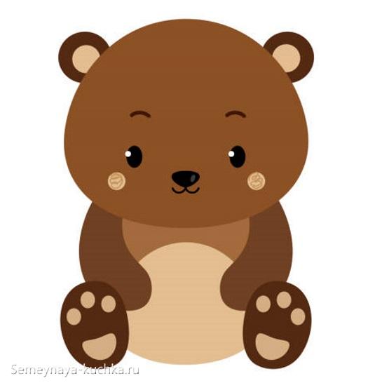 аппликация медвежонок сидит грустный