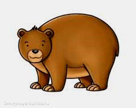аппликация большой медведь для детей