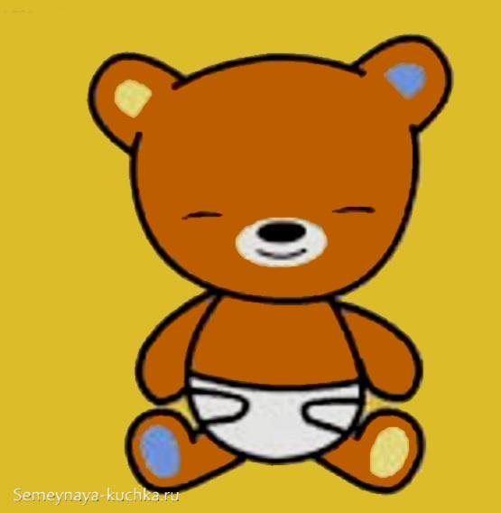 аппликация медвежонок для младшей группы